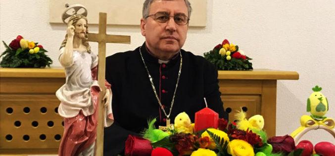 Велигденска честитка на бискупот Стојанов