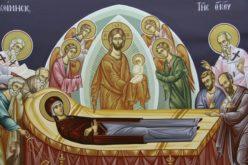 Најава за богослужби на празникот Успение на Пресвета Богородица
