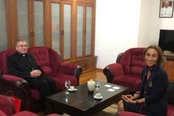 Бискупот Стојанов ја прими новоименуваната амбасадорка на Македoнија во Светиот Престол