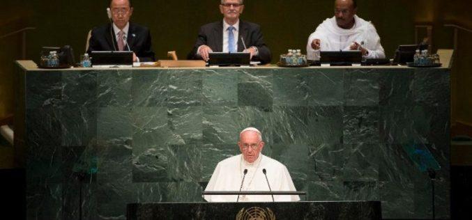 Папата на Генералното собрание на ООН по повод 75. годишнина
