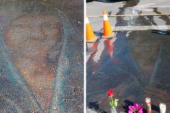 Цртежот на Дева Марија нацртан пред 13 години со креда, мистериозно повторно се појави