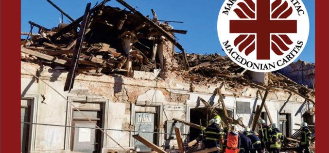 Македонски Каритас повикува на солидарност со погодените во земјотресот во Хрватска