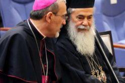 Прва посета на латинскиот патријарх во Ерусалим кај православниот патријарх Теофил