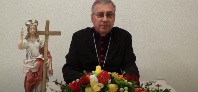 (ВИДЕО) Велигденска честитка на монс. Киро Стојанов, Скопски бискуп и Струмичко – скопски епарх