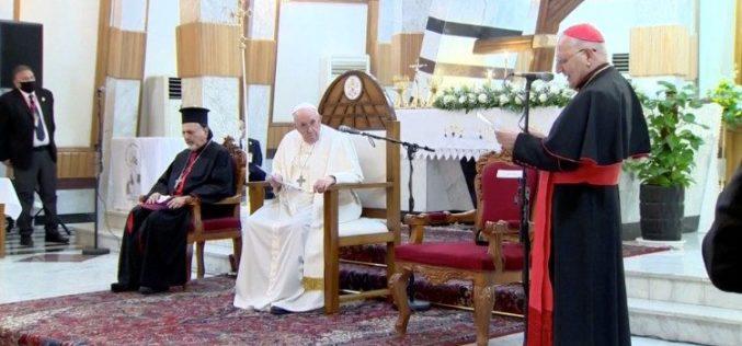Кардинал Сако му се заблагодари на Папата за посетата на Ирак