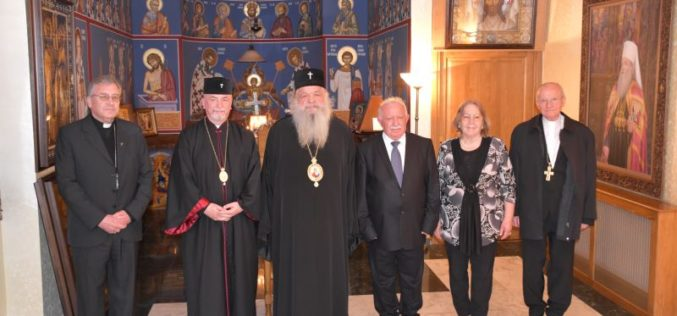 Архиепископот Васил беше примен од претседателот Пандаровски и архиепископот Стефан