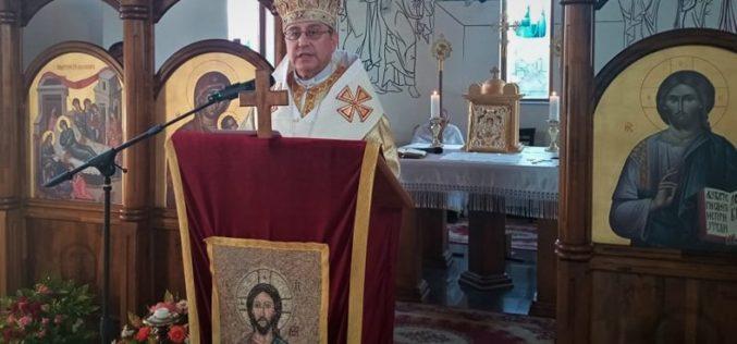 """Епископот Стојанов служеше Света Архиерејска Литургија по повод патрониот празник на парохијата """"Раѓање на Свети Иван Крстител"""" во Струмица"""