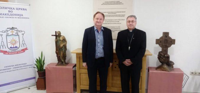 Бискупот Стојанов со сретна со Харолд Фугер претставник на Федералното Министерство за социјални работи и здравство на Австрија