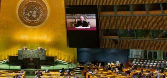Кардинал Паролин порака на Генералното собрание на ООН: Мирот се темели на братството